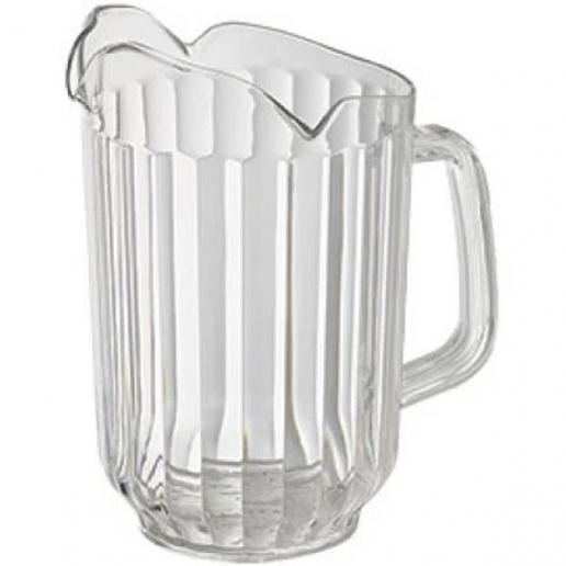 60 Oz. Clear Polycarbonate 3-Spout Pitcher - Richard's Supply Inc
