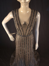 Load image into Gallery viewer, Silver A-Line Sleeveless, Beading Throughout