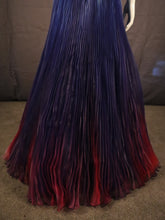 Load image into Gallery viewer, Purple Multicolour, Macado Dress with pleated skirt