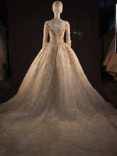 Load image into Gallery viewer, Gold & Ivory Bridal Ballgown Princess