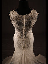 Load image into Gallery viewer, Ivory Fitted Bridal Dress, Chiffon & Lace