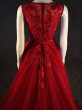 Load image into Gallery viewer, Red Fitted with Tule Overskirt