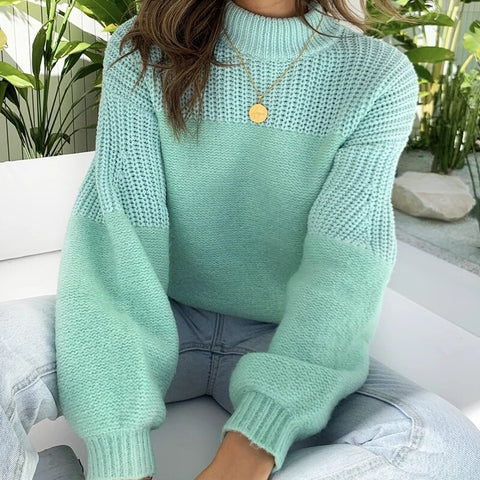 Pullover Sweater Long Sleeves O-Neck