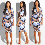 2020 New Summer Explosion Models Europe and The United States Foreign Trade Women's Plaid Long-sleeved Dress Nightclub Dress Belt