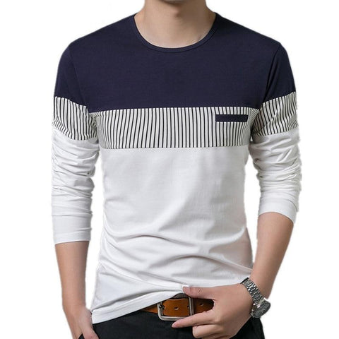 Cotton T-Shirt Long Sleeve O-Neck