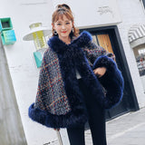 Tweed Jacket Hooded Shawl Cloak