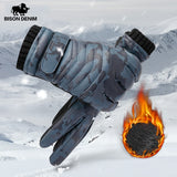 Men's BISON Denim Winter Gloves, Warm with Touchscreen