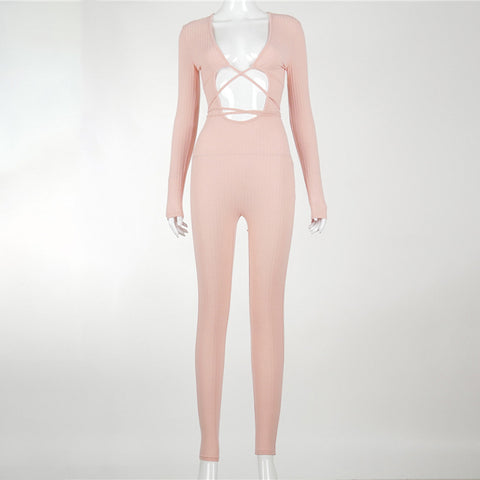 Sexy Rose Cut Out Jumpsuit