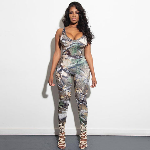 Sexy Backless Print 2 Piece Sets Sleeveless Tank Top And Long Pants Stylsih Outfits Women's Clothes 2021 -PT