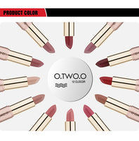 O.TW O.O-2-in-1 Matte Lipstick & Liquid Lip Gloss, Waterproof Lip Balm, No Stick