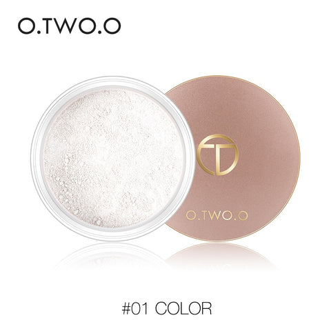O.TWO.O Powder for all skin types, long-lasting concealer, waterproof, with oil control, Natural, matte, 2 colors