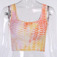 Tie Dye Print Fitness Sporty Matching Sets