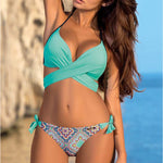 Cross Patchwork Swimwear
