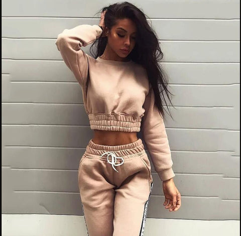 Tracksuits hoodie Long sleeve Casual sport two-piece