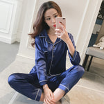 Silk Satin Pajamas Pyjamas Set