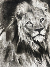 "Load image into Gallery viewer, The Courage of Our Savior - 11""x14"" Original Charcoal Sketch"