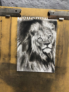 "The Courage of Our Savior - 11""x14"" Original Charcoal Sketch"