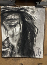 "Load image into Gallery viewer, Compassionate Love - 14""x17"" Original Charcoal Sketch"