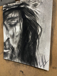 "Compassionate Love - 14""x17"" Original Charcoal Sketch"
