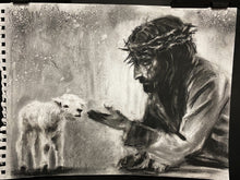 "Load image into Gallery viewer, Unmeasurable Love - 11""x14"" Original Charcoal Sketch"