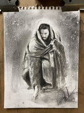"Load image into Gallery viewer, Writing in the Sand - 11""x14"" Original Charcoal Sketch"