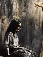 "Load image into Gallery viewer, ""Woman, Where Are Your Accusers?"" - 24""x30"" Original Acrylic Painting"