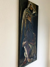 "Load image into Gallery viewer, Man of Sorrows - 16""x40"" Original Acrylic Painting"
