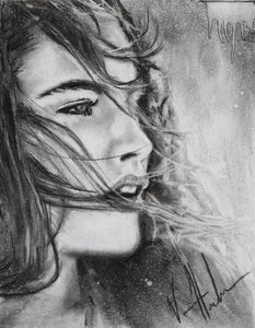 "Dreamer's Eyes - 11""x14"" Original Charcoal Sketch"