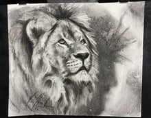 "Load image into Gallery viewer, King of Kings - 14""x17"" Original Charcoal Sketch"