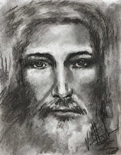 "Load image into Gallery viewer, The Shroud of Turin - 11""x14"" Original Charcoal Sketch"
