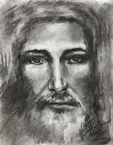"The Shroud of Turin - 11""x14"" Original Charcoal Sketch"