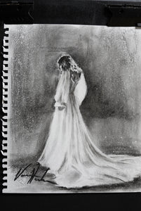 "Daughter's Light - 11""x14"" Original Charcoal Sketch"