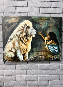 "Intimacy with God - 30""x40"" Original Acrylic Painting"