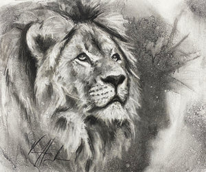 "King of Kings - 14""x17"" Original Charcoal Sketch"