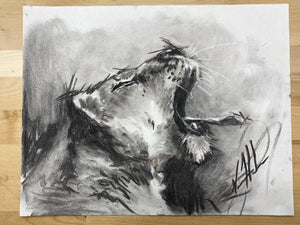"Rally Cry - 11""x14"" Original Charcoal Sketch"