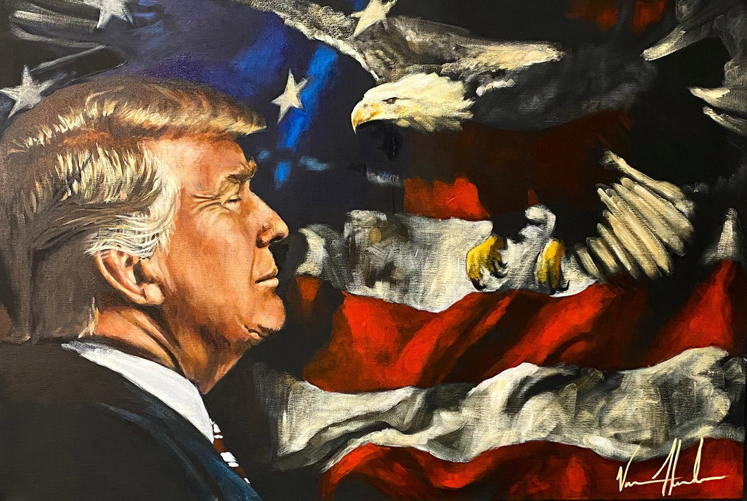 "For the Love of His Country - 24""x36"" Original Acrylic Painting"