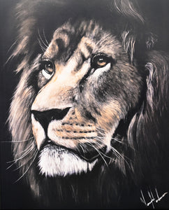 "Majestic Lion - 12""x15"" Gloss Print"