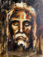 "Load image into Gallery viewer, The Raw Shroud of Turin - 16""x20"" Original Acrylic Painting"