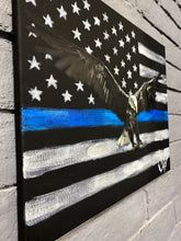 "Load image into Gallery viewer, The Thin Blue Line - 16""x20"" Original Acrylic Painting"