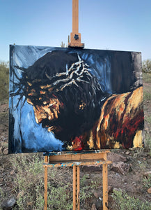 "By His Wounds We Are Healed - 30""x40"" Original Acrylic Painting"
