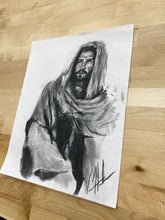 "Load image into Gallery viewer, Rabbi - 11""x14"" Original Charcoal Sketch"