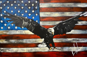 "Liberty - 24""x36"" Original Acrylic Painting"
