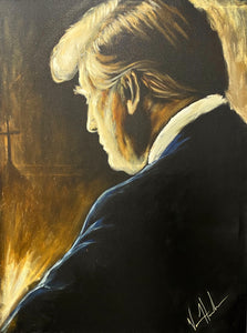 "Prayers for Our President - With Cross - 36""x48"" Original Acrylic Painting"