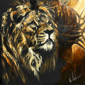 "King of Kings - 48""x48"" Original Acrylic Painting"
