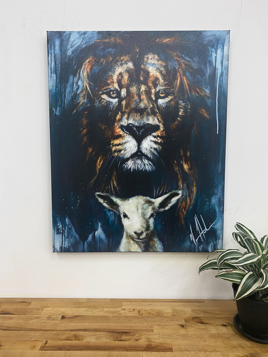 "Lion and Lamb Passover - 24""x30"" - Damaged Canvas Print 22"