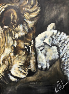 "Compassion of a King - 30x40"" Original Acrylic Painting"