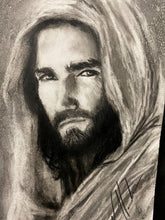 "Load image into Gallery viewer, The Gaze of Our Savior - 11""x14"" Original Charcoal Sketch"