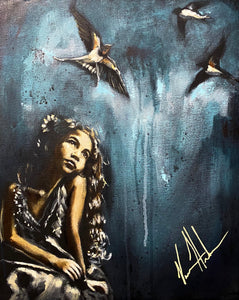 "More Precious Than Sparrows - 16""x20"" Original Acrylic Painting"