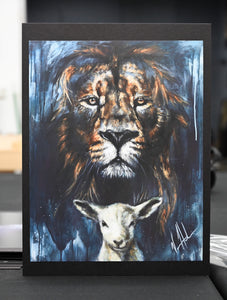 "The Lion and Lamb Passover - 11""x14"" Gloss Print"