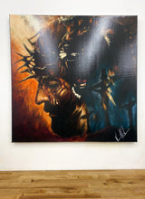 "Load image into Gallery viewer, Roar of Our Savior - 30""x30"" - Damaged Canvas Print 16"